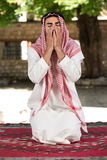 Muslim Praying In Mosque Royalty Free Stock Photography
