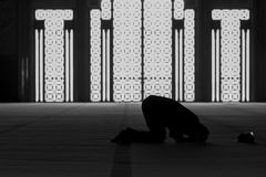 Muslim Praying. In a Musk Royalty Free Stock Photos