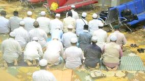 Muslim praying or Salat stock video