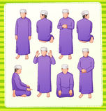 Muslim praying Stock Photos