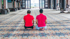 Muslim prays Royalty Free Stock Photography