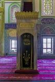 Muslim preacher place inside mosque Stock Photos