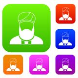 Muslim preacher set collection Stock Photography