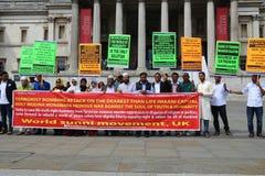Muslim protest terrorism Stock Photo