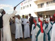 Muslim Qasida group, Milad un Nabi celebration. Muslims perform an Islamic qasida (poem) in Africa Nairobi Kenya Royalty Free Stock Image
