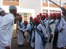Muslim Qasida group, Milad un Nabi celebration. Muslims perform an Islamic qasida (poem) in Africa Nairobi Kenya Royalty Free Stock Photography