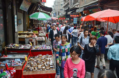 Muslim quarter of Xian stock photography