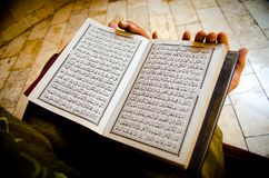 Muslim Read A Holy Quran stock photography