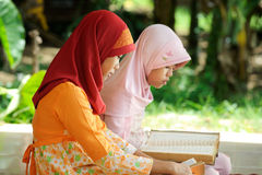 Muslim Reading Koran Stock Image
