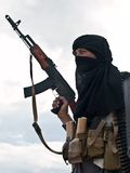 Muslim Rebel With AK Assault Rifle Royalty Free Stock Photo