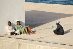Muslim rest on Nile Royalty Free Stock Images