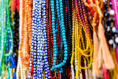 Muslim rosary or beads. Islamic beads for sale in a market Stock Photography