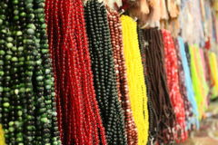 Muslim rosary or beads. Islamic beads for sale in a market royalty free stock images