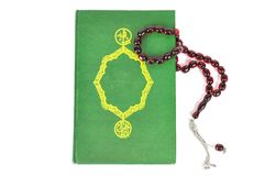 Muslim rosary beads and Quran Royalty Free Stock Photo