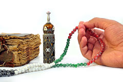 Muslim rosary on the koran Royalty Free Stock Image