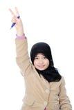 Muslim schoolgirl Royalty Free Stock Images