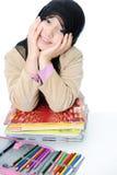 Muslim schoolgirl Stock Images