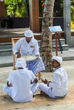 Muslim senior dhivehi orthography teacher giving lesson to his students royalty free stock photo