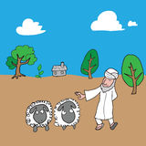Muslim and sheeps village Stock Photography