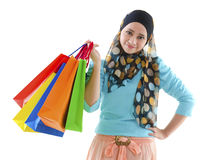 Muslim shopper Royalty Free Stock Photos