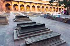 Muslim stone grave in Fatehpur Sikri Stock Photos