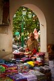 Muslim street vendor of Yogyakarta, Indonesia Stock Images