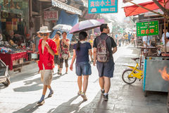 Muslim street in Xian, China Royalty Free Stock Photo