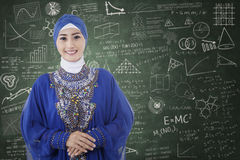 Muslim student in the classroom 1 Royalty Free Stock Photo