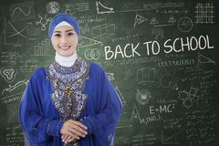 Muslim student in the classroom Stock Photos