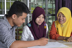Muslim Student Study Group Stock Photography