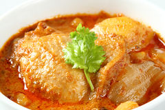 Muslim style chicken and potato curry Royalty Free Stock Photo
