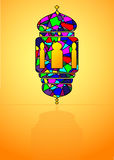 Muslim symbol - traditional Arabic lantern, lamp. Royalty Free Stock Photos