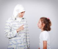 Muslim teacher Royalty Free Stock Photos