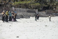 Muslim Teens on the beach Stock Images