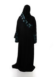 Muslim traditional woman, clothes from back Royalty Free Stock Photo
