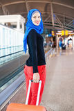 Muslim traveler Royalty Free Stock Image