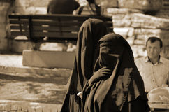 Muslim veiled woman Royalty Free Stock Photo