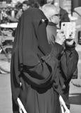 Muslim veiled woman Royalty Free Stock Photos