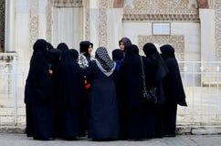 Muslim veiled women Stock Photo