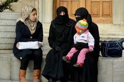 Muslim veiled women Royalty Free Stock Photo