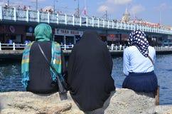 Muslim veiled women Stock Images