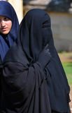 Muslim veiled women Stock Photos