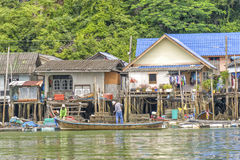 Muslim Village Pang Nga Bay, Thailand Royalty Free Stock Photography