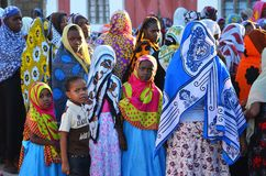 Muslim wedding celebration, Zanzibar Royalty Free Stock Photography