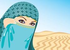 Muslim Woman. Beautiful Muslim Woman. Vector illustration Royalty Free Illustration