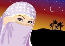 Muslim Woman royalty free illustration
