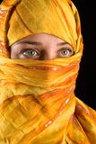 Muslim woman. Close-up portrait of a beautiful woman wearing veil Royalty Free Stock Photos