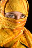 Muslim woman. Close-up portrait of a beautiful woman wearing veil Stock Photography