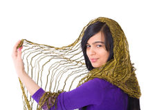 Muslim Woman. Wearing scarf isolated Stock Photo