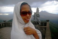 Muslim woman in Bali Stock Photos
